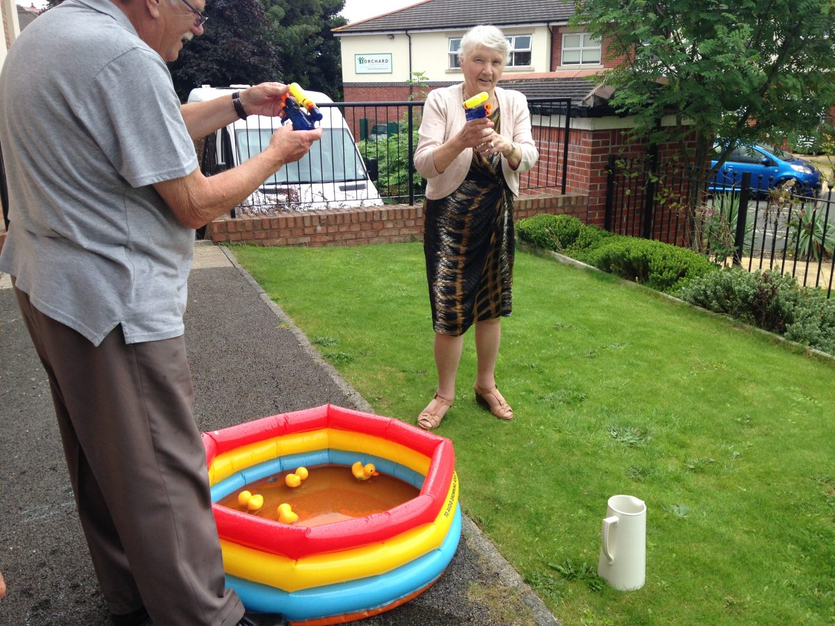 Playing with Water Pistols
